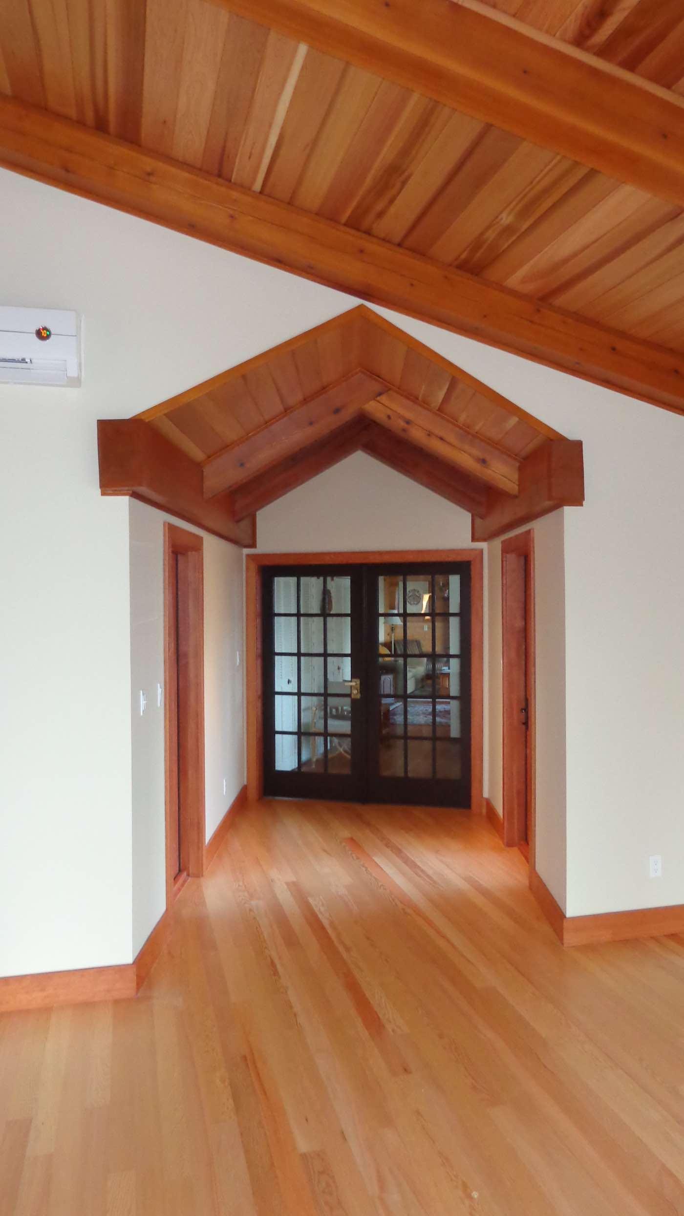 fine wood working in custom home by Copper Ridge Homes