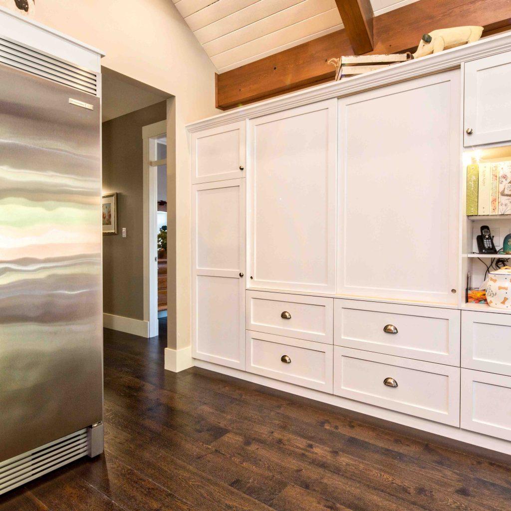 wooden kitchen cupboards in modern custom built home